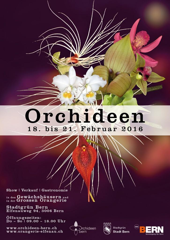 Orchideen-Ausstellung 2016 in Bern - Exposition d'orchidées à Bern en 2016
